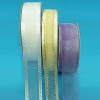 Wholesale Organza Sheer Ribbon, Various Sizes and Put-ups are Available from china suppliers