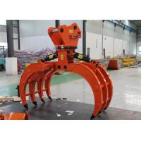 Wholesale Multifunctional Excavator Rock Grab , Rotating Log Grapple For Mini Excavator from china suppliers