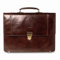 Wholesale Single Flap-Over Briefcase, Made of Buffalo Leather, Measures 42 x 10.5 x 32cm from china suppliers