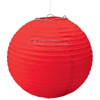 China Solid Color Round Paper Lanterns For Party , Hanging Paper Lanterns Dia 10cm -20cm on sale