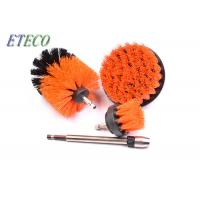 China Carpet Cleaning Bristle Brush For Drill White Corrugated Inner Box Packed on sale
