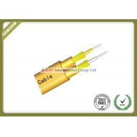Flat Twin Duplex Indoor Fiber Optic Cable With Inner Outer Sheath For Telecommunication