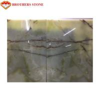 Wholesale Natural Polished Light Green Onyx Stone Customized Size For Wall Decoration from china suppliers