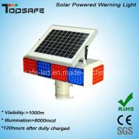 Quality New Design Solar Powered LED Traffic Warning Flashing Light with CE (TP-BS-4M4N) for sale