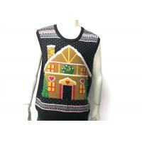 Features Patterns Knitted Ugly Christmas Vest , Christmas Sweater Vest