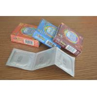China Classic Natural Latex Foil Condoms For Lasting Longer With Different Fruit Flavored on sale