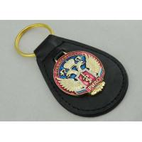 Wholesale Transparent Soft Enamel Personalized Leather Keychains For Russia Military Police from china suppliers