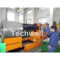 Quality 7 / 10 / 15 Ton Weight Capacity Steel Coil Decoiler With Adjustable Working for sale