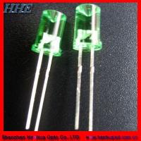 Quality 8mm Concave Green LED Diode for sale