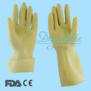 Unlined Latex Glove Texture Latex Glove Washing Latex