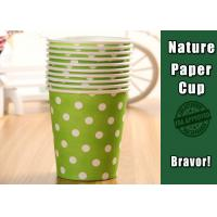 Wholesale Eco Friendly Hot Liquid Paper Cups , PE Coated Thermal Paper Cups Dot Pattern from china suppliers