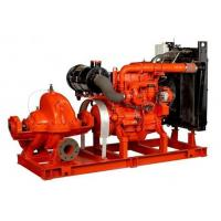 Wholesale 80hp irrigation water diesel engine fire pump Base Mounted 60hp Suction Flapper 100GPM from china suppliers