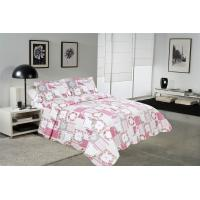 Wholesale White And Pink Printed Quilt Set 100 Percents Cotton For Household Bedroom from china suppliers