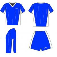 Cool dry soccer uniforms with shirts and shorts personalized football