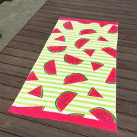 Quality Watermelon Fruit Stripe Printed Beach Towels With Different Cool Feel for sale