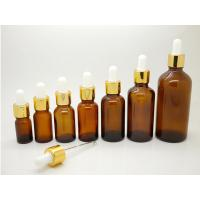 Wholesale ES-D435 30ml 50ml amber glass bottle & bulb dropper pipettes for essential oil packaging from china suppliers
