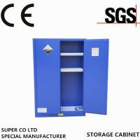 Wholesale Fulfuric  Blue Steel Corrosive Storage Cabinet  45-gallon  with  2 Shelves Perchloric from china suppliers