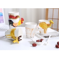 Wholesale 9cmx11cm 3D Ceramic Mugs from china suppliers