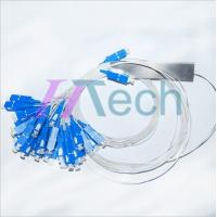China 2x32 Mini Steel Tube Fiber Optic Coupler With SC connector on sale