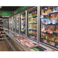 Wholesale 2M Frozen Food Combination Freezer Wall Case With Horizontal Mitsubishi Compressor from china suppliers