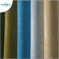 Wholesale Genuine Glitter Leather Fabric , Glitter Cotton Fabric For Handbags 1mm Thick from china suppliers