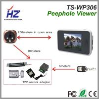 Wholesale 3.5''touch screen 2.4GHz Automatically taking photos ir night vision wireless digital peephole door camera from china suppliers