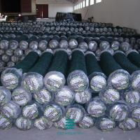 China Diamond mesh  Chain link fence Welded Wire Fence Roll Plastic with concrete on sale