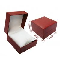 Buy cheap custom made black red decorative closure rigid cardboard jewelry gift box with from wholesalers