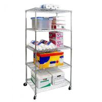 Wholesale Five Tier Commercial Wire Shelving Unit Metal Shelf Rack Large Capacity from china suppliers