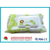 Buy cheap Plant Based Material Adult Wet Wipes Hypoallergenic Flushable Pre Moistened from wholesalers