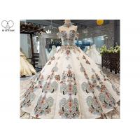 Wholesale Off Shoulder Tailor Made Prom Dresses Colorful Lace Beading Floor Length from china suppliers