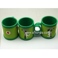 Wholesale Custom cheap and cute cartoon pvc silicone wrap plastic promotional mugs from china suppliers