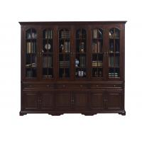 Wholesale Home Office Study room furniture American style Big Bookcase Cabinet with Display chest can L shape for corner wall case from china suppliers