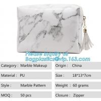 Wholesale Custom Tyvek Paper Zipper Cosmetic Makeup Bag With Leather Handle,untearable tyvek zipper cosmetic bag,Environmentally f from china suppliers