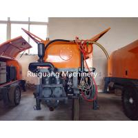 China diesel cement mortar plaster sprayer/cement mortar spray pump with mixer on sale