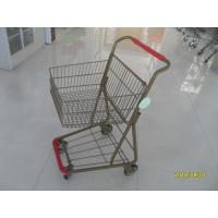 Wholesale 40L Folding Grocery Shopping Trolley Q195 Low Carbon Steel For Supermarket from china suppliers