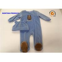 Buy cheap Comfortable Infant Boy Pram Suits , Long Sleeve Bear Applique Newborn Boy from wholesalers