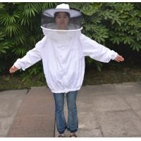 Wholesale Round Veil White Bee Jacket with Round Hat of Beekeeping Protective Clothing from china suppliers