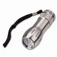 Wholesale LED Aluminum Flashlight with 3 AAA Battery, Measures 35 x 28 x 97.5mm from china suppliers