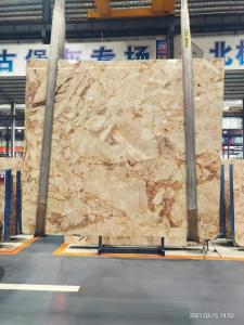 Wholesale Surface Finishing calacatta gold porcelain slab , marble table top slab from china suppliers