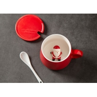 Wholesale Supermarket 13 Oz 400CC Christmas Ceramic Mugs from china suppliers