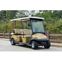 Buy cheap 4 Wheel Drive 6 Seat Electric Golf Cars With Golden Color / Electrical Golf from wholesalers