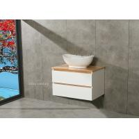 Wholesale Timber Countertop Single Bowl Bathroom Vanity DTC Metal Runners 800*510*500mm from china suppliers