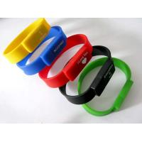 Wholesale Bracelet USB Flash Drive with Personalized Custom Logo, Silicone USB bracelet from china suppliers