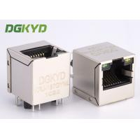Wholesale High Performance 180 degree top entry RJ45 jack with transformer cat 5 from china suppliers