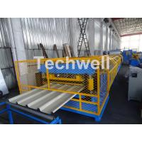 Wholesale Customized Trapezoidal Profile Roof Roll Forming Machine With Hydraulic Post Cutting Device from china suppliers