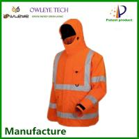 Wholesale hi vis waterproof long sleeves reflective jackets with pockets from china suppliers