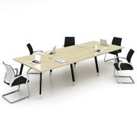 Wholesale Office Furniture Melamine Board Conference Room Table Deep Oak + Light Oak Color from china suppliers