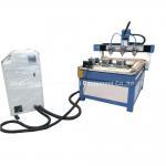 3 Heads 3 Rotary Axis Wood Metal Stone CNC Engraving Cutting Machine