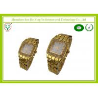 Rectangle Gold Men Wrist Watches Classical With Alloy Case Eco-Friendly